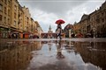 December Rain in Timisoara