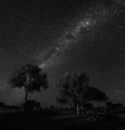 Night sky at Kernot Range panorama 2