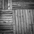 Wood floor in a public running way.