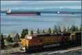 Cargo Ships & Coal Train