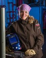 This young woman was ranked number one in her otherwise all-male welding technology program.