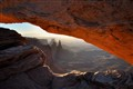 Washer Woman through Mesa Arch