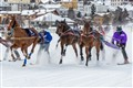 White turf horse race - Switzerland