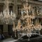 Chandeliers in a Budapest shop window