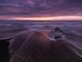 Diamond beach at sunrise