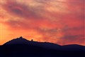 Sunset over the rock of Calascio