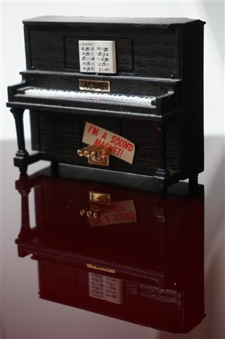 Magnetic piano ready for recital