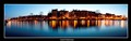 amsterdam pano at blue hour
