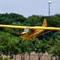 Landing yellow small plane model