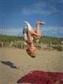 Zoe upside down
