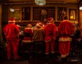 Santas cooling their heels after a long season.