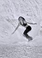Snowboarding with a splash