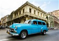 blue cab of Havana