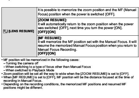 panny FZ150 lens resume