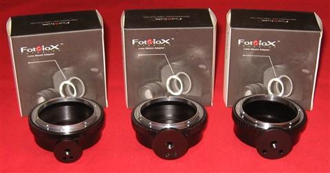 080513 Fotodiox FD-NEX Adapters...3 styles TriPod foot