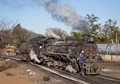 One of Africa's last working steam locomotives at Selebi-Phikweto, Botswana