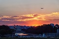 A Plane passes over the Lincoln Memorial as it  comes in to land at the Regan National Airport in Washington D.C.