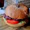 ostrich burger.