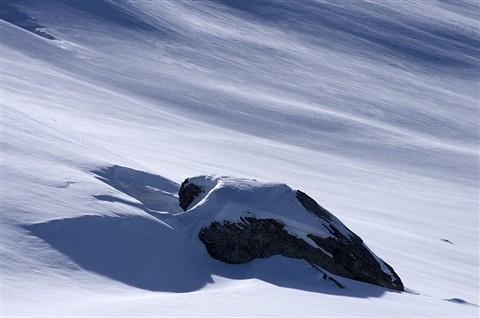 Rock under snow