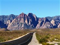 The road to Red Rock Canyon