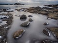Rough rocks, smooth ice