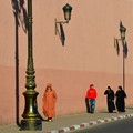 Modern and traditional people at Marrakech -Morrocco