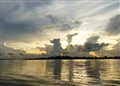 Dawn on the Suriname river