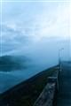 Misty dam