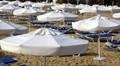 Umbrellas on the black sea