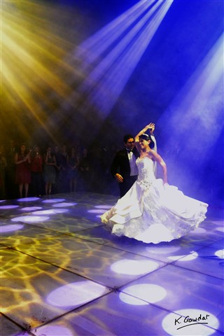 colorful first dance