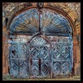 An old door to a winery in Palatinate Germany.