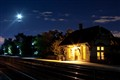 Highland Station under the moonlight