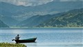 A Solitary Boat on Phewa Lake, Phokara