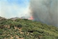 Mountain fire, Crete
