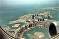 Aerial view of Porto Arabia and Viva Contrale