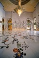 Superb inlays of marble floor - Cheik Zayed Mosque