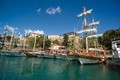 Boats in the Antalya old harbor