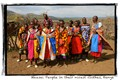 Maasai People in their Nicest Clothes, Kenya