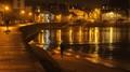 saint Malo harbor at night