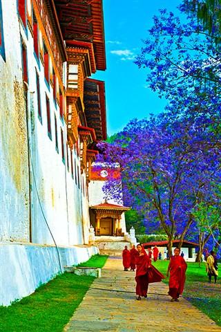 Student Monks Bhutan