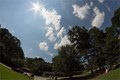 At maximum eclipse (95%) in Marietta, GA. Camera time is incorrect, should be approximately 2:30 PM Eastern Time.