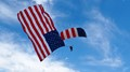 Flag and Parachute