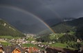Rain (and two Rainbows) in St.Christina, Val Gardena, Italy