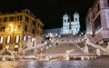 Solitary Walk Up The Spanish Steps, Rome, Italy