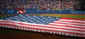 Giant flag at the Dodger stadium