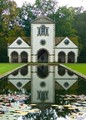 Originally built in Glocestershire around 1730, moved to Bodnant Garden in Wales and rebuilt, 1938/39.
