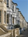 Classic seaside boarding houses, Brighton England