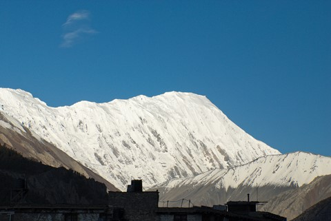 Tilicho peak as seen from Manang, Nepal