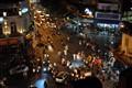 "The chaos of a street in Hanoi near the ""Night market"""