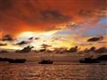 Sunset at Water Front Kota Kinabalu Sabah, Borneo